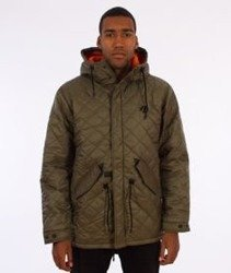 Backyard Cartel-Padded Parka Long Oliwkowa
