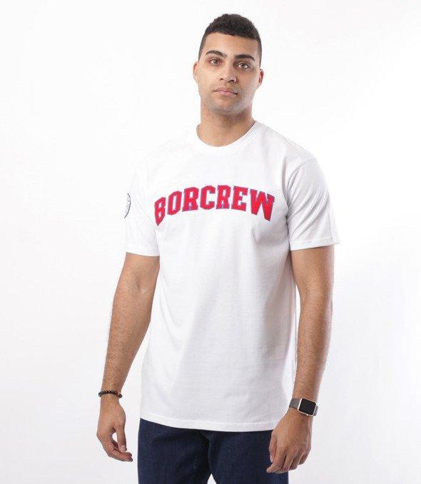 Biuro Ochrony Rapu-College T-shirt Biały