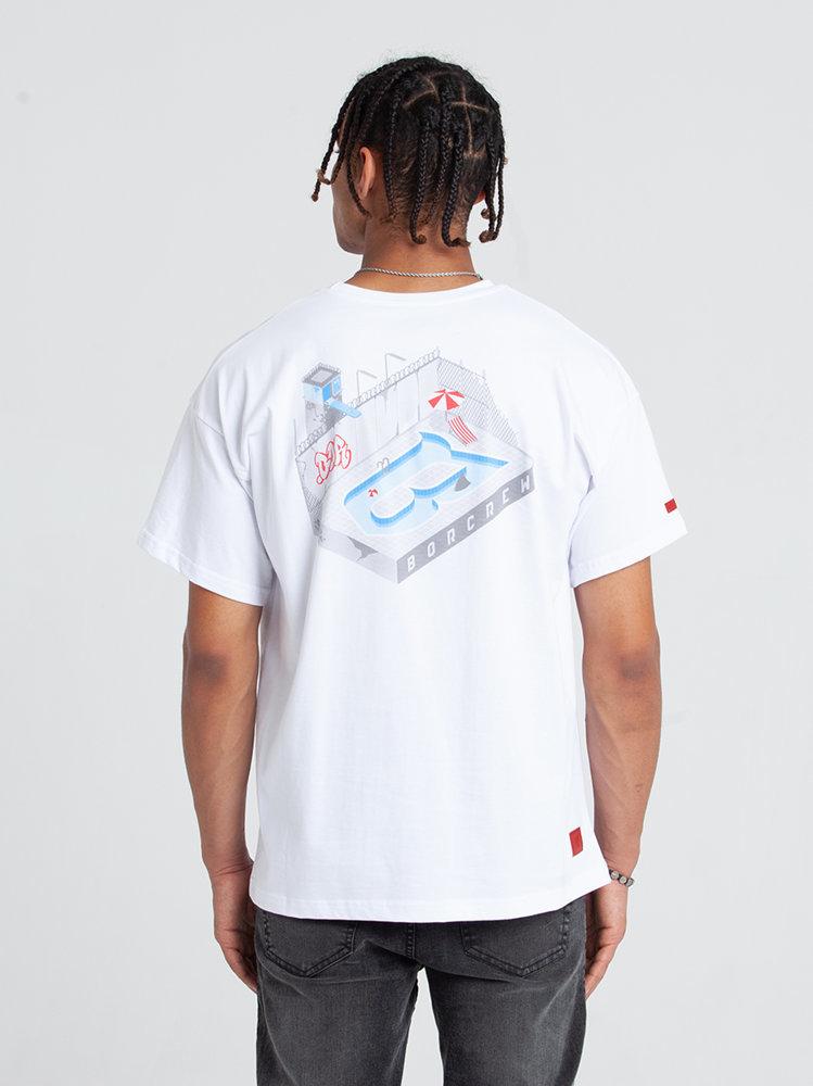 Biuro Ochrony Rapu POOL T-Shirt Oversize Biały