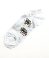 Blud-Uniform Pig No Show Skarpetki Białe