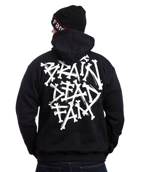 Brain Dead Familia BONES Bluza z Kapturem Czarny