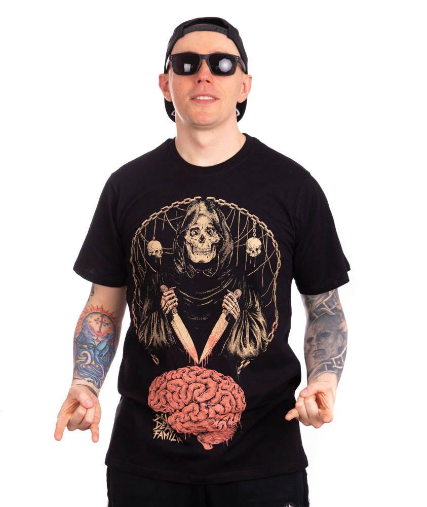 Brain Dead Familia MÓZG T-SHIRT Czarny