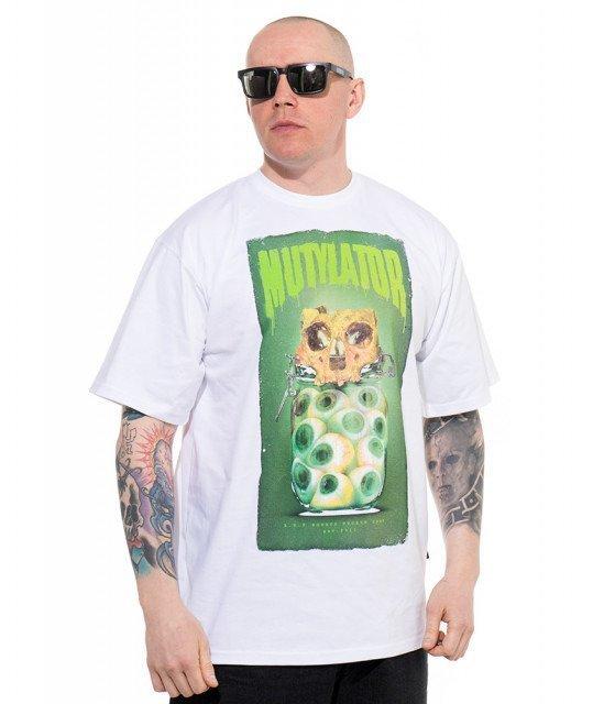 Brain Dead Familia-Mutylator T-shirt Biały