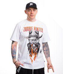 Brain Dead Familia ZOMBIE HUNTER T-Shirt Biały