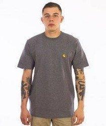 Carhartt-Chase T-Shirt Dark Grey Heather/Gold