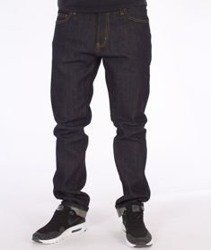 Carhartt-Rebel Pant Spodnie Spicer Blue Stretch Denim Rigid