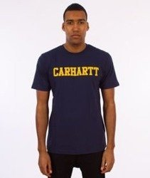 Carhartt WIP-College T-Shirt Blue/Yellow