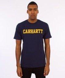 Carhartt WIP-College T-Shirt Blue/Yellow