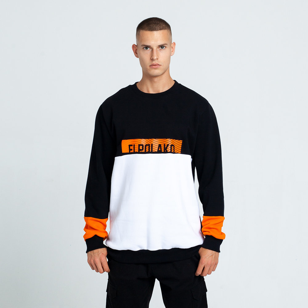 El Polako 3CUT Bluza Czarny/Biały