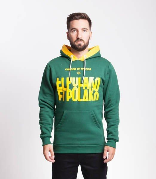 El Polako SLOTMACHINE Bluza z Kapturem Zielony