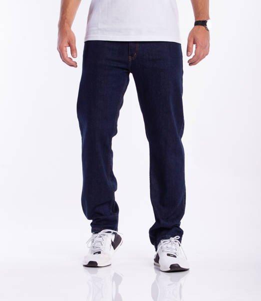 Elade Spodnie Jeansowe Slim Ciemny Niebieski