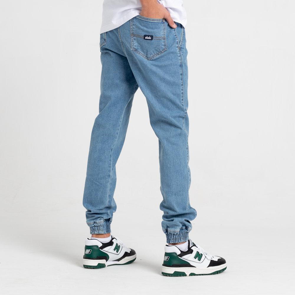 Elade Spodnie Joggery Jeansowe Jasny Niebieski