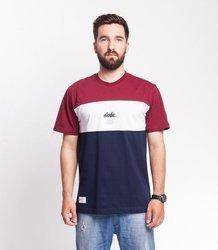 Elade T-shirt Colour Block Bordo/Biały/Granatowy