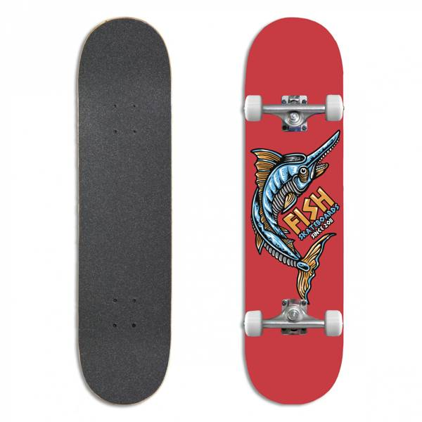 Fish Skateboards Deskorolka Kompletna BEGINNER JAMES 8.0