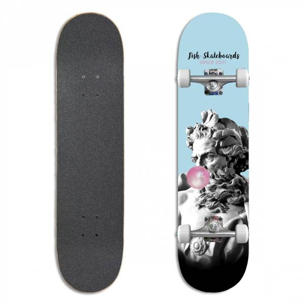 Fish Skateboards Deskorolka Kompletna BUBBLE GUM 8.0