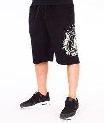 Ganja Mafia-Herb Big Spodnie Krótkie Dresowe Czarne