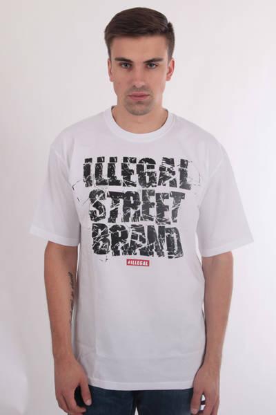 Illegal Street Brand T-Shirt Biały