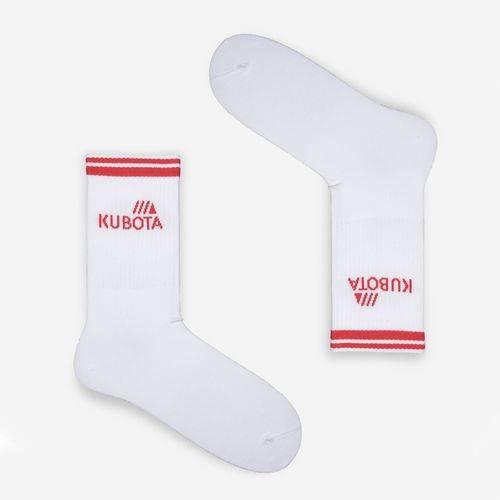 Kubota Sport Skarpetki Biały/Czerwony