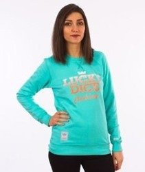 Lucky Dice-Simple Dice RND Girl Crewneck Bluza Damska Turkusowa