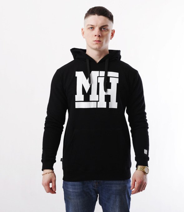 METODA -MH Logo Bluza Kaptur Czarna