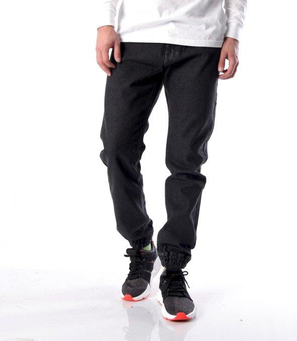 Mass-Base Jogger Jeans Spodnie Black Rinse