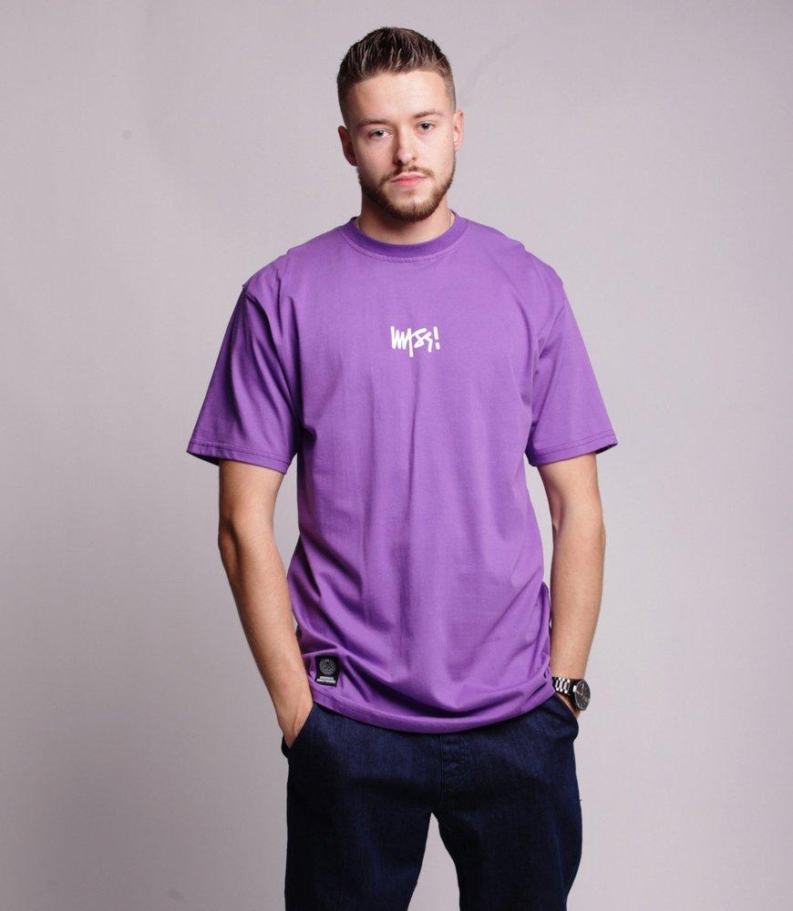 Mass SIGNATURE SMALL LOGO T-Shirt Fioletowy