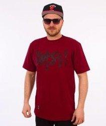 Mass-Signature Handmade T-shirt Bordowy