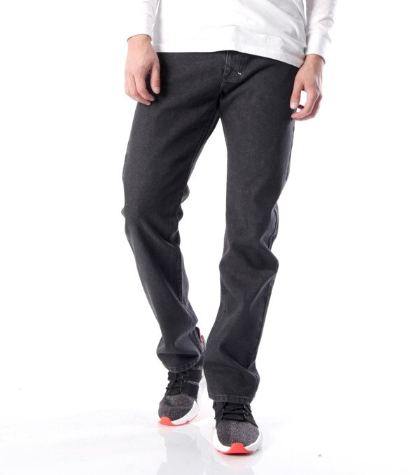 Mass-spodnie Jeans Classic Straight Fit Black Rinse