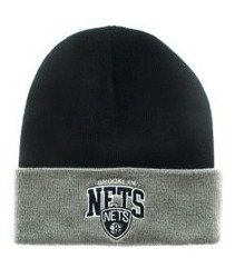 Mitchell & Ness-Brooklyn Nets EU349 Archet Cuff Knit Czapka Zimowa Czarna/Szara