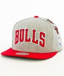Mitchell & Ness-Chicago Bulls 058VZ Snapback Czapka Szara