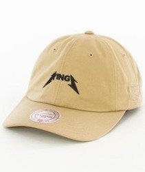 Mitchell & Ness-Sacramento Kings Rock Font Dad Hat Snapback Khaki