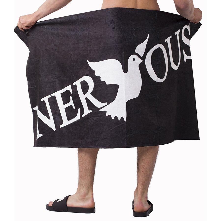 Nervous CLASSIC Ręcznik Czarny