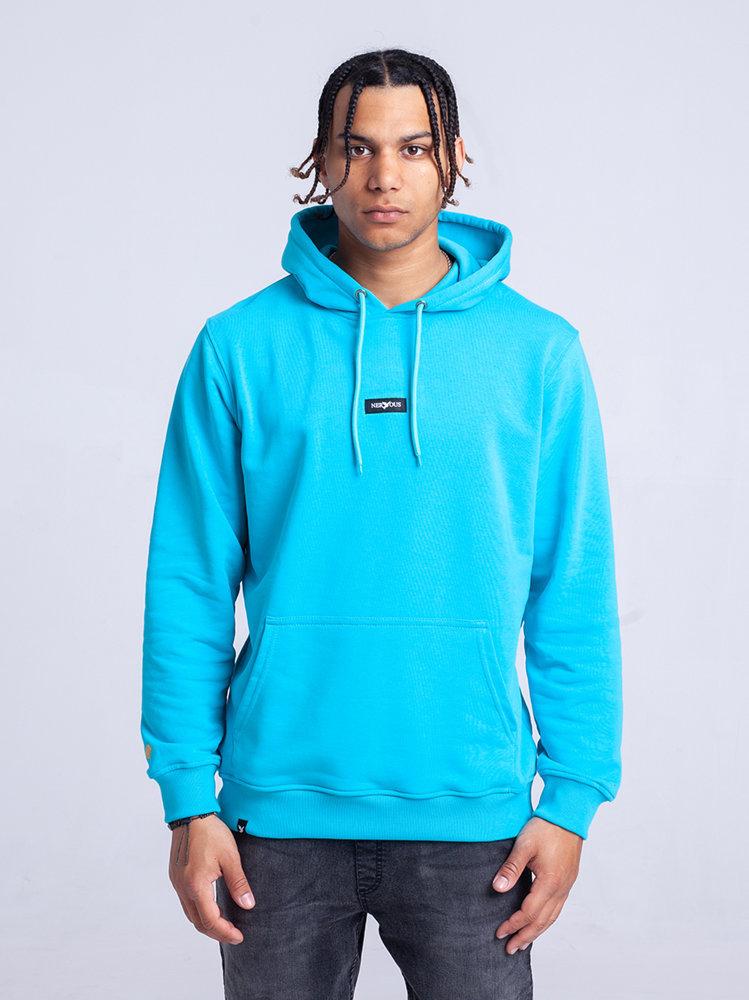 Nervous CLASSIC SMALL Bluza z kapturem AQUA