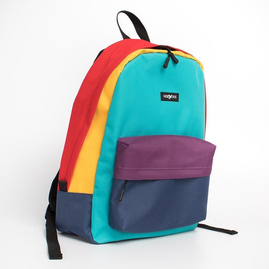 Nervous SCHOOL HARLEKIN Plecak Multicolor
