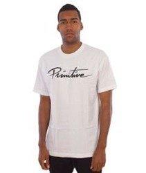 Primitive-Nuevo Script T-Shirt Biały