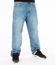 RocaWear-Lighter Wash Loose Fit Spodnie Jeans R00J9914E 854