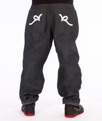 RocaWear-Raw Japan Baggy Fit Spodnie Jeans R00J9969E 823