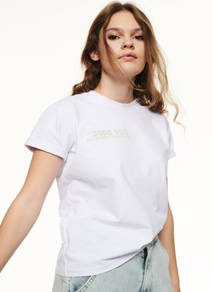 SSG Girls BASIC LOGO T-Shirt Biały