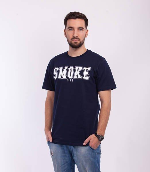 Smoke Story FRONT BACK T-Shirt Granatowy