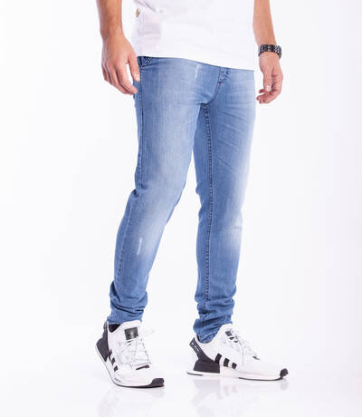 Smoke Story Jeans Stretch Skinny Guma Przecierane Light