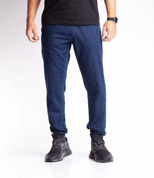 Smoke Story SKIN Jogger Slim Jeans Medium Blue