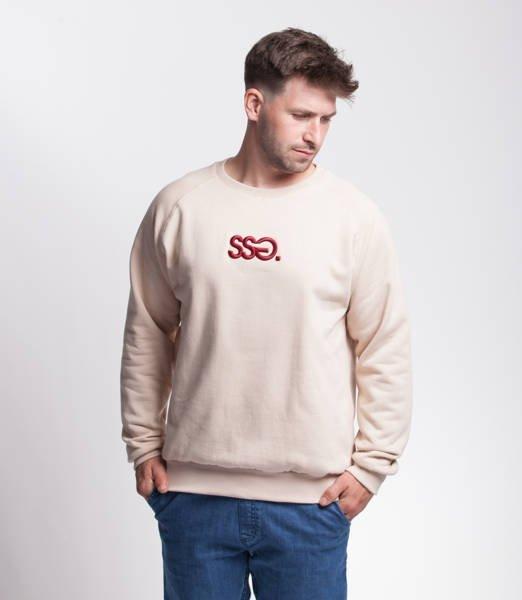 Smoke Story SSG 3D EFFECT Bluza bez kaptura Beżowy