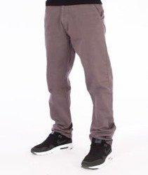 SmokeStory-Chino Slim Spodnie Z Wywinięciem Szare