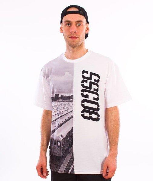 SmokeStory-Half Train T-Shirt Biały