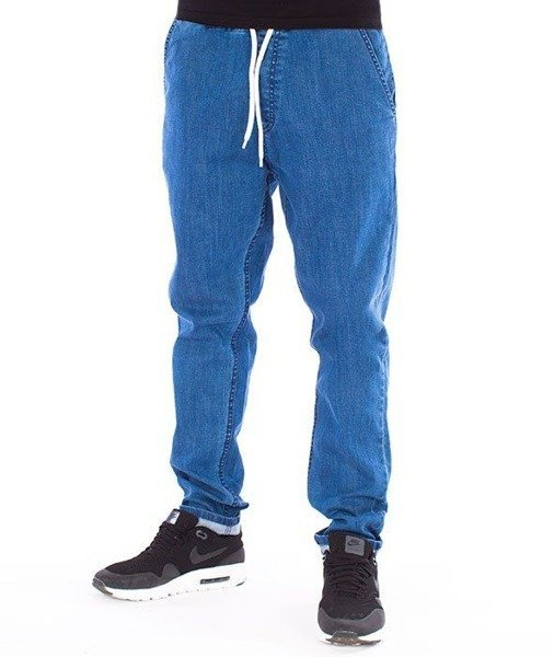 SmokeStory-Jeans Stretch Straight Fit Guma Spodnie Jeans Light
