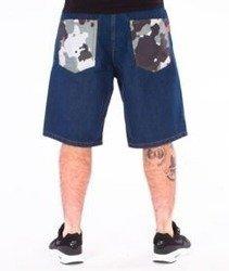 SmokeStory-Moro Pocket Jeans Krótkie Spodnie Medium Blue