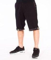 SmokeStory-Moro Wstawki Krótkie Spodnie Slim Czarne