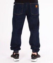 SmokeStory-SSG Tag Jogger Jeans Regular Spodnie Dark Blue