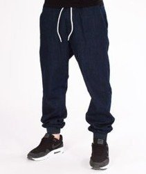 SmokeStory-Tag Jeans Jogger Regular Guma Spodnie Dark Blue