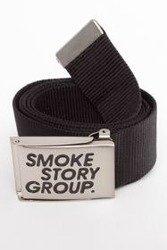 SmokeStoryGroup - Pasek Smoke Story Czarny/Srebrny
